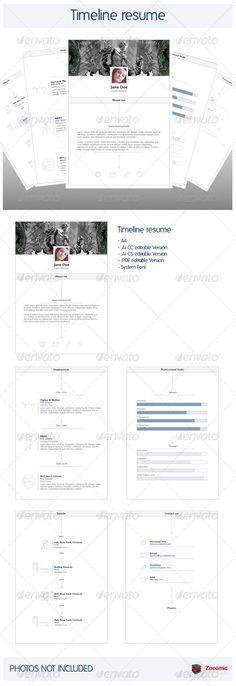 Simple Resume Template Set  Simple Resume Template Simple Resume