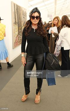 Nancy Dell'Olio attends the VIP private view of the Frieze Art Fair 2016 in Regent's Park on October 5, 2016 in London, England.