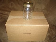 Longaberger 1 Quart Blue Ribbon Canning Jars w/Lids - Set of 6 - New in Box