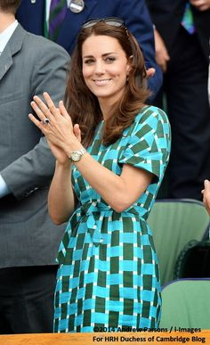Catherine, Duchess of Cambridge and Prince William, Duke of Cambridge attend the mens singles final Novak Djokovic over Roger Federer Wimbledon 7/6/2014 London, England