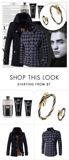 """Rosegal 9/ III"" by emina-095 on Polyvore featuring Gucci, men's fashion, menswear, polyvoreeditorial and rosegal"