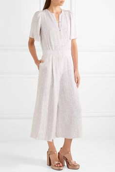 Temperley London | Olina cropped sequined tulle jumpsuit | NET-A-PORTER.COM