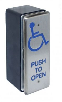 Narrow Exit Switch Press To Exit / Wheelchair SS - access control - exit buttons - Narrow Exit Switch Press To Exit / Wheelchair SS - Timber, Tool and Hardware Merchants established in 1933