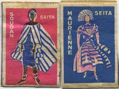 vintage match box labels