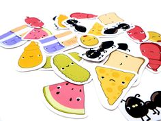Cute food stickers picnic icons  pack of 26 by JoeyDesign on Etsy, $4.50