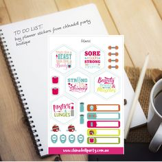 planner stickers | fitness | weights training dumbell barbell muscles strong skinny | erin condren happy planner inkwell press kikki k
