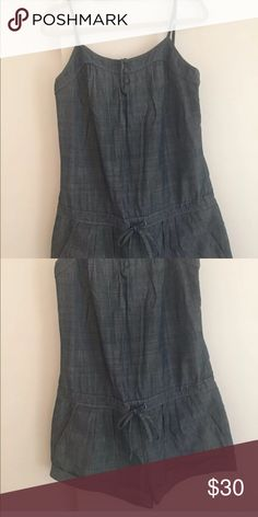 Seven for all mankind romper jumper M Seven for all mankind romper jumper  two pockets in front  two pockets in back  button at Neckline adjustable shoulder strap's  Worn once perfect condition  M 7 For All Mankind Shorts