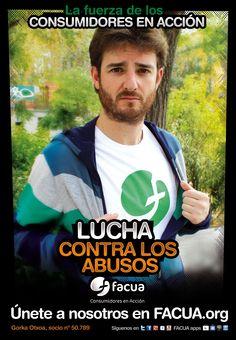 Gorka Otxoa socio de FACUA nº 50.789, llama a los consumidores a la lucha contra los abusos