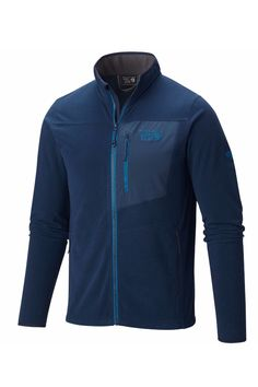 The all-purpose 2017 Mountain Hardwear Toasty Twill Fleece Midlayer Ski Casualwear Jacket has a textured-twill appearance that looks like wool but is 100% polyester, so it's warm, rugged, and easy to care for.