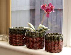 Komplet trzech - Paper wicker baskets by PaperRay on DeviantArt