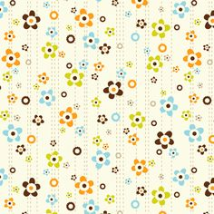 Flower Shower Cream fabric by heatherdutton on Spoonflower - custom fabric