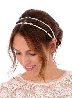 PERRY Lux Headpiece   bridal comb pearl veil by UntamedPetals, $148.00