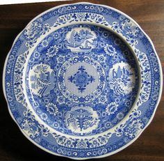 Decorative Dishes - Blue White Transferware Chinoiserie Exotic Asian Medallion Plate, $34.99 (http://www.decorativedishes.net/blue-white-transferware-chinoiserie-exotic-asian-medallion-plate/)