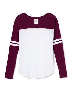 Slouchy V-neck Tee PINK like blue better but burgundy is also nice if they are on promo