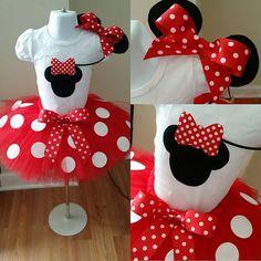 Set de Tutu rojo Minnie Mouse silueta por TuTuCutee en Etsy