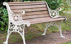 Look this awesome Garden bench Pergola Ideas 9329075602 Cast Iron Garden Bench, Cast Iron Bench, Outdoor Garden Bench, Outdoor Decor, Cast Iron Garden Furniture, Painted Garden Furniture, Wooden Furniture, Outdoor Living, Outdoor Furniture
