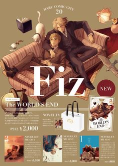 【春コミ】お品書き Book Cover Design, Book Design, Catalog Design, Hetalia, Banner, Typography, Layout, Anime, Graphic Design