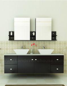 Clarissa 72 Inch Modern Honey Oak Bathroom Vanity Glass Top By Virtu USA