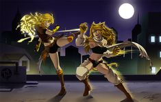 Yang vs Leone by baka-kiiro on DeviantArt RWBY