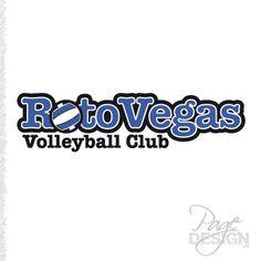 Rotovegas Volleyball Club logo Club Design, Page Design, Volleyball Clubs, Graphic Design, Logos, Logo, Visual Communication