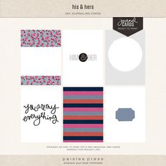 his and hers journal cards by paislee press