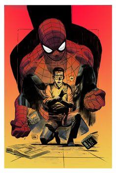 Spider-Man: Moral Obligation // artworkby Lee Weeks(2014)