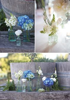 Dekoration blau weiss Matakana wedding by Greta Kenyon Modern Wedding Flowers, Small Wedding Bouquets, Wedding Hair Flowers, Flowers In Hair, Wedding Colors, Decoration Table, Rose Petals, Wedding Designs, Our Wedding