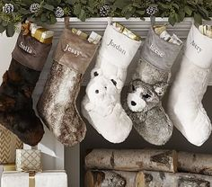 Faux Fur Stocking Collection from Pottery Barn