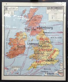 A fabulous 1960s map of the UK in excellent condition. Measuring 120 x 100cm. Available to buy - contact retromaps.co.uk@gmail.com to reserv...