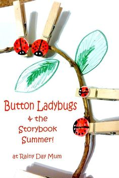 Button Ladybugs DIY
