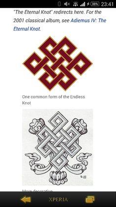 Endless knot, karma symbol