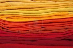 een kleurverloop van warmekleuren