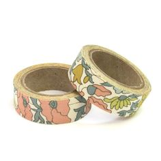 Liberty of London Fabric Masking Tape - Poppy & Daisy in Beige
