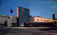 W. T. GRANT'S STORE (1950s)  GRANT'S CORNER 9TH AND PEACH