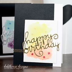 Card by SPARKS DT Lisa Arana PS stamp set: Borderlicious; PS dies: Happy Birthday Words