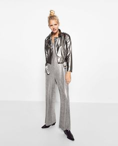 Image 1 of LONG SLIT JUMPSUIT from Zara