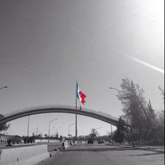Puente de la Amistad y la Megabandera. Parque Chamizal.