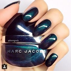Green with Envy Marc Jacobs Beauty Enamored Nail Lacquer Fabulous Nails, Gorgeous Nails, Love Nails, How To Do Nails, Fun Nails, Pretty Nails, Essie, Marc Jacobs Nail Polish, Marc Jacobs Makeup