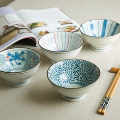 Japanese-style hand-painted tableware tall wind bucket-shaped bowl bowls Japanese groceries home Japanese ceramics ZAKKA H