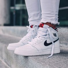 b2565667f9a784 NIKE Women s Shoes - NIKE Air Jordan 1 Retro High OG White x Black x Touch  of Red - Find deals and best selling products for Nike Shoes for Women