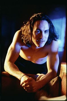 "Eric Draven from the movie ""The Crow"" (Released 1994). What can I say hot role! Yikes. I watch that movie and he looks good even in that make up. Eric Draven is played by Brandon Lee (who actually died during the filming by a loaded prop gun). Good looking guy."