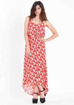 Puzzle Piece Tiered Maxi Dress  $32.50