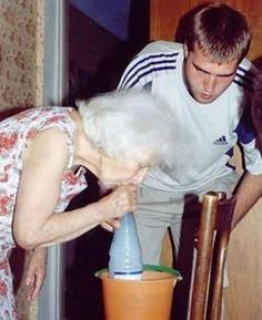 Grand mom hitting the gravity bong! www.cannaberg.com