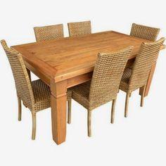 """Stof Lar Decorações - Móveis em Madeira de Demolição: Mesa com cadeiras """"Amalfi"""""""