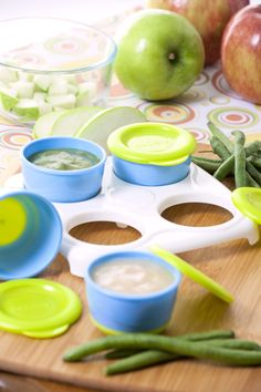 Nuby Food Pots Baby Freezer Fruits Food /& Snack Storage Bowl Pots with Lids 6pk