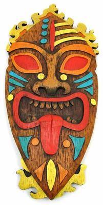 Pacific Island Tribal Art 18 inch Wall Mask Tiki | eBay