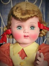 SUSAN STROLLER : POUPEE MARCHEUSE RHODOID ERE SAUCY WALKER RAYNAL 1950's SUPERBE