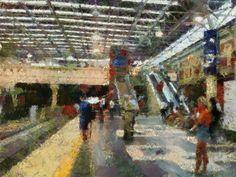 Impressionist at Perth station