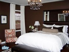 pretty chocolate brown room