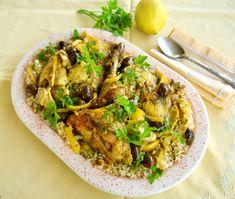 Μαροκινό κοτόπουλο με λεμόνια και ελιές, κουρκουμά και ρύζι ή κους κους Japchae, Ethnic Recipes, Food, Essen, Meals, Yemek, Eten